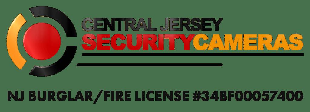 Central Jersey Security Cameras Logo Burglar Fire License Number