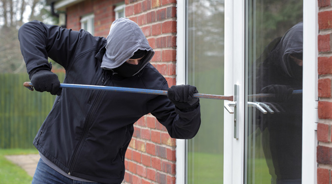 Man breaking into home with poor security