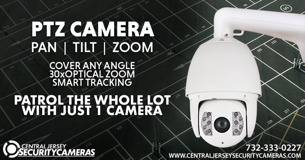 PTZ Security Camera CCTV System in Retail Business Parking Lot Central Jersey Security Cameras