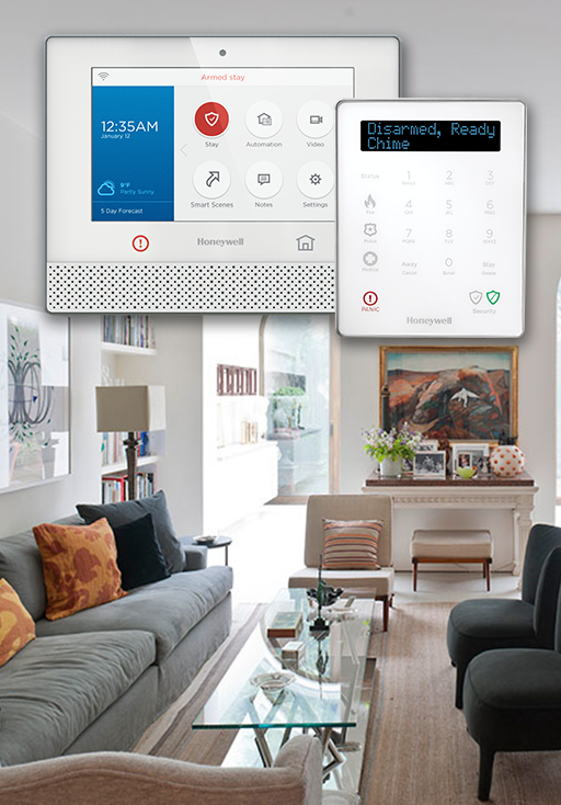Alarm Panels in Home Living Room