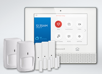 Honeywell Alarm Panel with sensors