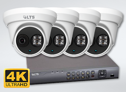 Four Dome Camera 8.3 Megapixel HD 4K DVR Package